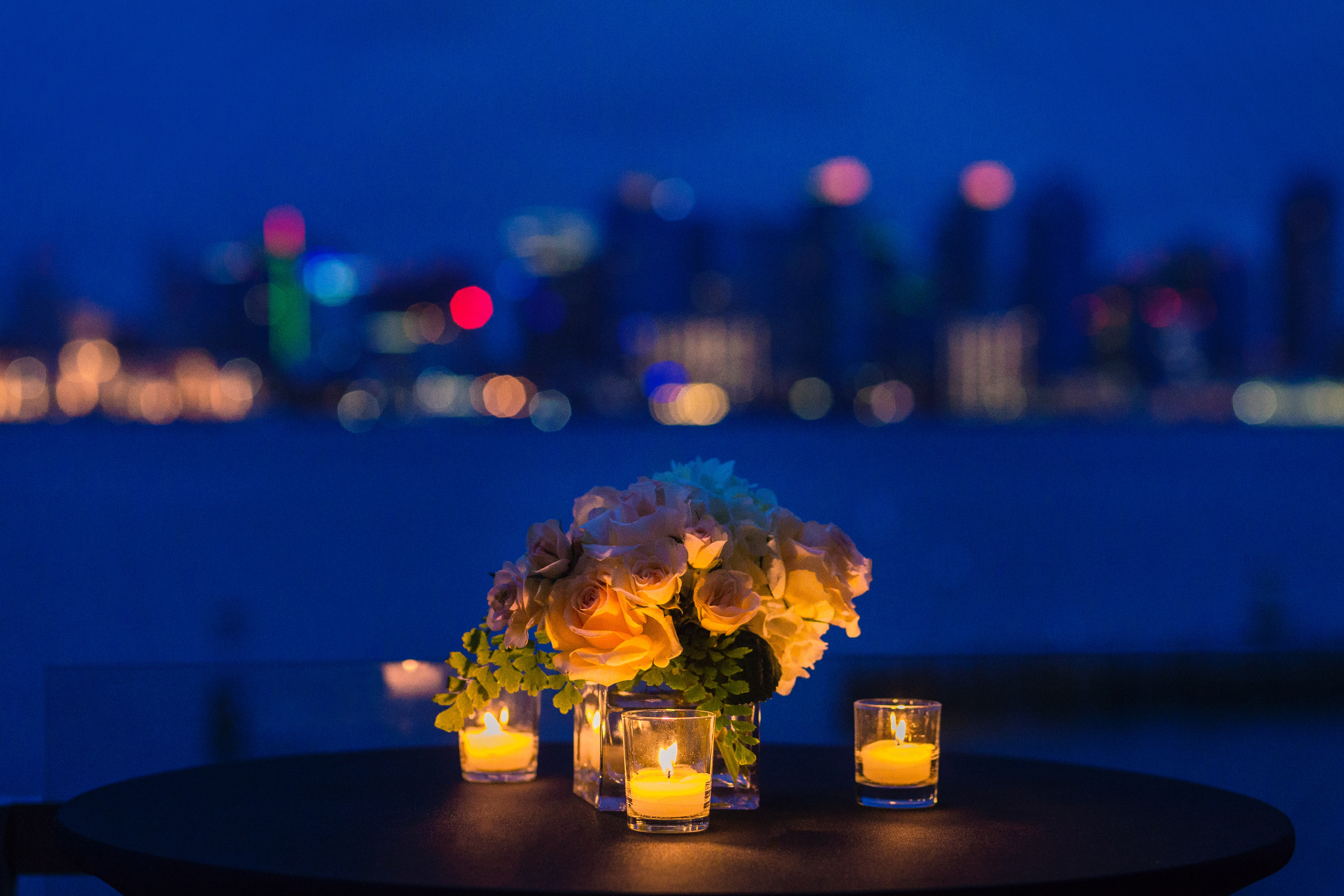 anniversary flowers by the water